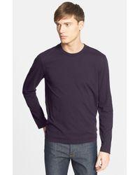 James Perse Gray Long Sleeve Crewneck T-shirt for men