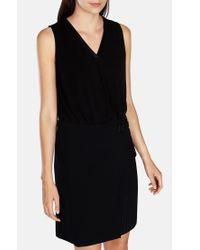 Karen Millen Black Draped Crepe Vest Top