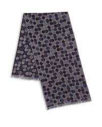 Saks Fifth Avenue | Blue Dot Print Merino Wool Scarf for Men | Lyst