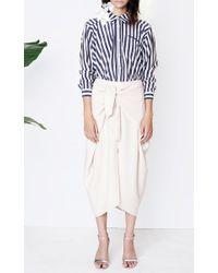 Kaelen Natural Tie Front Skirt
