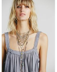 Free People - Gray Miss Me Fit And Flare - Lyst