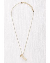 Forever 21 | Metallic Cool And Interesting Ca State Necklace | Lyst