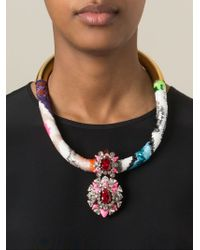 Shourouk Multicolor 'zulu' Necklace
