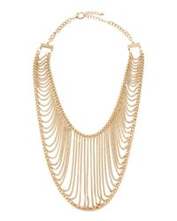Chamak by Priya Kakkar | Metallic Golden Chain Net Necklace | Lyst