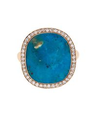 Monique Péan - Blue Diamond, Opalina & White-Gold Ring - Lyst