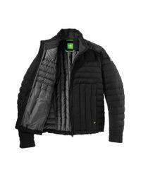 BOSS Green Black Down Jacket 'Jessino' for men