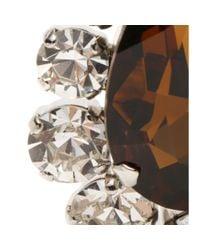 Miu Miu - Brown Crystal Clip-on Earrings - Lyst