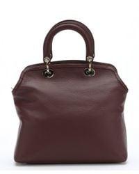 Dior - Purple Burgundy Deerskin Medium 'Granville' Convertible Tote - Lyst