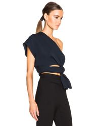 TOME | Blue Fwrd Exclusive Silk Crepe One Shoulder Top | Lyst