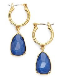 Lauren by Ralph Lauren | Blue Crystal Drop Earrings | Lyst