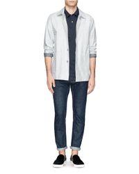 Sunspel Blue Cotton Jersey Polo Shirt for men