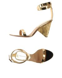 DSquared² - Metallic Highheeled Sandals - Lyst
