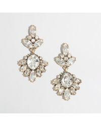 J.Crew | White Factory Dangling Crystal Pendant Earrings | Lyst