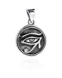 Aeravida   Metallic Circle Eye Of Horus Egyptian Symbol .925 Silver Pendant   Lyst