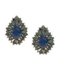 Catherine Stein - Blue Cabochon Stone Stud Earrings - Lyst
