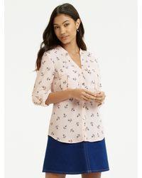 Oasis - Natural Anchor Print Shirt - Lyst