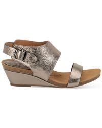 Söfft - Gray Vanita Wedge Sandals - Lyst