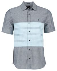 Volcom | Blue Sancho Slim-fit Short-sleeve Shirt for Men | Lyst