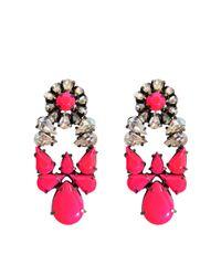 Shourouk | Pink Mia Earrings. | Lyst