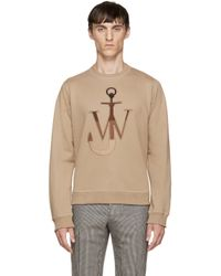 J.W.Anderson | Natural Camel Logo Pullover for Men | Lyst