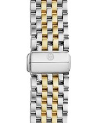 Michele - Metallic 'deco Ii' 18mm Bracelet Watchband - Lyst