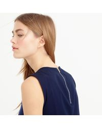 J.Crew | Blue Collection Donegal Wool And Crystal Stone Sleeveless Shell | Lyst