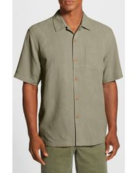 Tommy Bahama | Green 'bedarra Garden' Original Fit Silk Sport Shirt for Men | Lyst