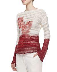 Bottega Veneta   Red Interwoven Silk Pullover   Lyst
