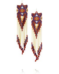 Jacquie Aiche | Red + Bead And Porcupine Earrings | Lyst