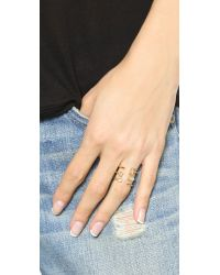 Elizabeth and James - Metallic Sol Ring - Gold/clear - Lyst
