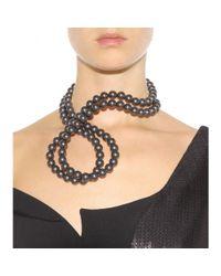 Stella McCartney White Faux Pearl Necklace