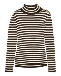 Bouchra Jarrar Black Striped Knit Sweater