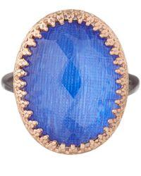 Larkspur & Hawk - Blue White Topaz Annabel Ring - Lyst