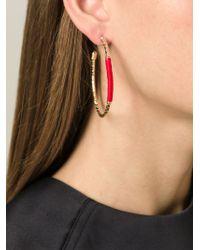 Aurelie Bidermann | Metallic 'soho' Hoop Earrings | Lyst