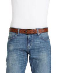BOSS Orange Brown Cowhide Belt 'Janur' for men