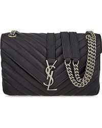 Saint Laurent | Monogram Medium Quilted Leather Satchel, Women's, Black | Lyst