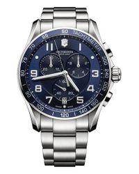 Victorinox - Blue Victorinox Swiss Army 'chrono Classic Xls' Bracelet Watch for Men - Lyst