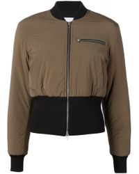 T By Alexander Wang - Brown Cropped Bomber Jacket - Lyst
