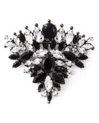 Ermanno Scervino - Black Crystal Triangle Brooch - Lyst