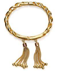 Rachel Zoe | Metallic Double Tassel Hinge Bracelet | Lyst