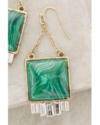 Anthropologie | Metallic Malachite Fringe Drop Earrings | Lyst