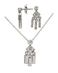 Tiffany & Co | Metallic Women's Pre-owned Platinum Diamond Necklace And Earring Set | Lyst