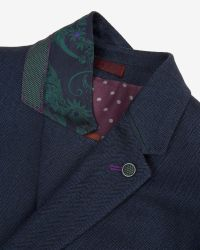 Ted Baker - Blue Tyller Herringbone Suit Jacket for Men - Lyst