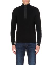Barbour | Black Zip-detail Cotton Jumper for Men | Lyst