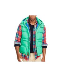 Polo Ralph Lauren - Green Elmwood Down Vest - Lyst