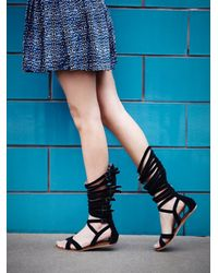 Free People | Black Romana Fest Gladiator Sandals | Lyst