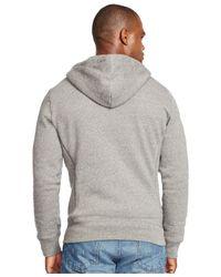 Polo Ralph Lauren Black Hoodie, Full Zip Hooded Fleece for men