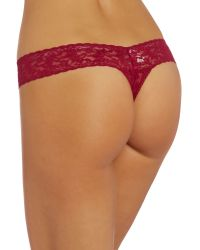 Hanky Panky | Red Signature Lace Thong | Lyst