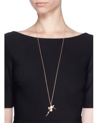 Shaun Leane | Large Branch Pendant Diamond And Cultured Pearl Necklace | Lyst