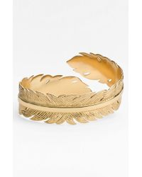 Melinda Maria | Metallic Feather Cuff | Lyst